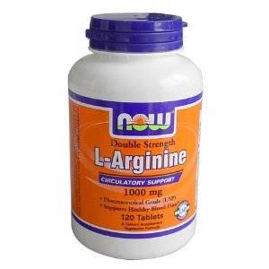 l arginine  Arginine 1000 mg 120
