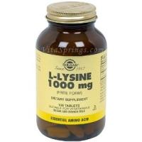 L-Lysine 1000 mg  100 Tablets