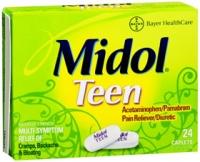 Midol Formule Adolescente douleurs menstruelles 24 caps
