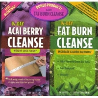 Acai Berry Cleanse + Fat Burn Cleanse 14 jours