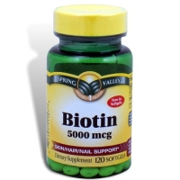 BIOTIN SPRING VALLEY 5000 MCG 120 CAPS