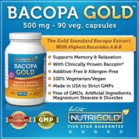 Bacopa Gold - 500 mg, 90 Vegetarian Capsules