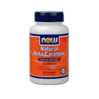 Beta Carotene - 100 capsules , now foods