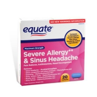 EQUATE POUR ALLERGIES ET SINUS 20 CAPS