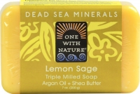 One With Nature Dead Sea Mineral Soap Lemon Sage 7 oz