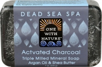 One With Nature Dead Sea Spa Mineral Soap Activated Charcoal