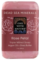 One With Nature Dead Sea Mineral Soap Rose Petal 7 oz