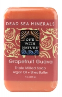 One With Nature Dead Sea Minerals Soap Grapefruit Guava -- 7 oz