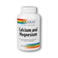 Solaray - Calcium and Magnesium, 180 capsules