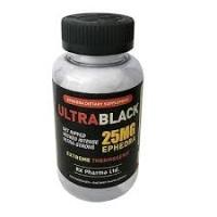 ULTRA BLACK ECA 25 MG EPHEDRA (100 CAPSULES)