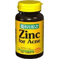 Zinc pour Acne - 100 tabs,(Good'n Natural)