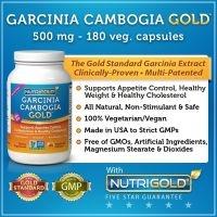 GARCINIA CAMBODGIA 500 mg, avec HCA  180 caps
