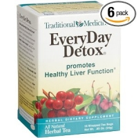 DETOX HERBAL THE  16-Count ( 6 boites =96 scahets )  The