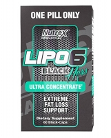 LIPO 6 BLACK POUR ELLE NEW 60 CAPS CONCENTRE