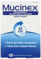 MUCINEX SOULAGE CONGESTION PULMONAIRE EN 12 H   40 CAPS