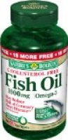 FISH OIL 1000 MG. CHOLESTEROL FREE OMEGA-3 SOFTGELS, 135-COUNT