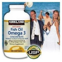 Natural Fish Oil Concentrate with Omega-3 Fatty Acids - 400 Soft