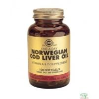 Solgar Norwegian Cod Liver Oil 100 Softgels