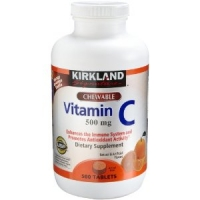 Vitamin C (500 mg), 500-Count, Tangy Orange, Chewable Tablets