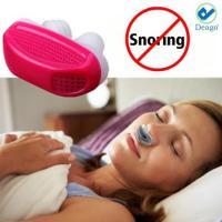 Deago - Stop Ronflement Anti Snore nez Apnea Garde Soins du sommeil dispositif d'aide Soulager Ronflement Rouge