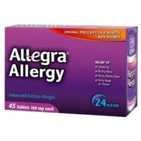 Allegra pour adultes contre les Alergies -180 mg 45 caps