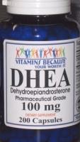 DHEA MASS- 200 CAPS  PRECURSEUR TESTOSTERONE