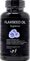 FLAXSEED OIL 1000MG, 60 CAPS