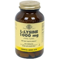 L-Lysine 1000 mg  100 Tablets