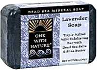 One With Nature Dead Sea Mineral Soap Lavande 7 oz