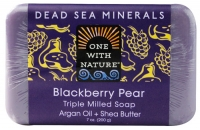 One With Nature Dead Sea Minerals Bar Soap Mûre et Poire 7 oz