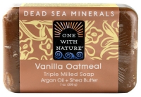 One With Nature Dead Sea Mineral Soap Vanilla Oatmeal  7 oz