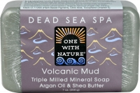 One With Nature Dead Sea Spa Mineral Soap Volcanic Mud 7 oz