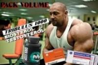 PACK VOLUME Tribulus,Testosterol, Biosterol 200 Caps TOTAL