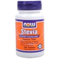 Stevia - Now Foods, 200 tablettes