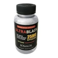 ULTRA BLACK ECA 25 MG EPHEDRA (100 CAPSULES)