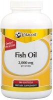 VITACOST HUILE DE POISSON CITRON-2000MG PAR PORTION-300 SOFTGELS