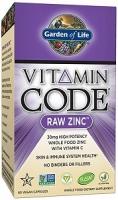 VITAMIN CODE RAW ZINC 60 CAPS