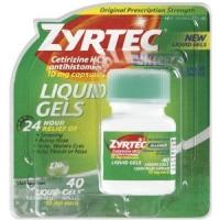 Zyrtec Liquid Gels  40 capsules liquides
