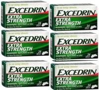 EXCEDRIN EXTRA STRENGTH 24 CAPSULES PAQUET DE 6144 CAPSULES AU TOTAL