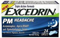 EXCEDRIN PM HEADACHE 24 CAPS PACK DE 2