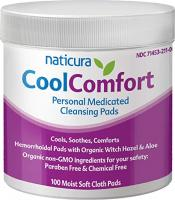 NATICURA COOLCOMFORT PERSONNEL NETTOYANT 100 PADS