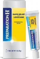 PREPARATION H RAPID RELIEF AVEC DE LA LIDOCAINE CREAM HEMORROIDES SYMPTOMES DE TRAITEMENT 30 ML