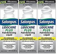 Salonpas LIDOCAINE PLUS 120ml ROLL ON 4 percent Lidocaine 3 PACK