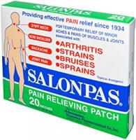SALONPAS SALONPAS PAIN REL PATCH  20 CT