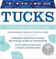 TUCKS MEDICAMENTEUX HEMORROIDES SYSTEMES DE REFROIDISSEMENT 100 PADS PACK DE 2